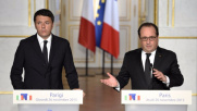 Lotta al terrorismo, Renzi incontra Hollande all'Eliseo