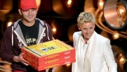 Oscar, DeGeneres serve la pizza