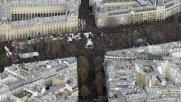 Parigi dall'alto, un fiume di persone contro terrorismo