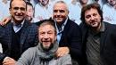 Francesco Nuti festeggiato da Carlo Conti, Leonardo Pieraccioni e Giorgio Panariello