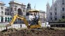 Milano, orti e alberi in piazza Duomo<br>partono i lavori in vista di Expo