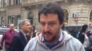 """Napoli, insulti contro Matteo Salvini """"Buffone, vattene, sei tu 'a carogna"""""""