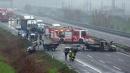 Rapina a portavalori, camion dati alle fiamme sulla A1