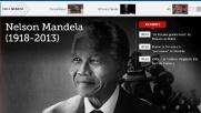 Nelson Mandela in prima pagina nel mondo