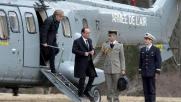 Hollande, Merkel e Rajoy sul luogo del disastro: le foto