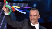 Sanremo 2016, Ramazzotti colora di arcobaleno l'Ariston