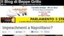 Grillo: impeachment per Napolitano<br>&quot;Snaturata figura del Capo dello Stato&quot;