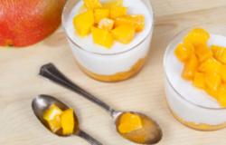 Coppette al mango e latte di cocco