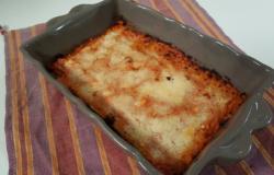 Pasticcio di zucchine, cotto e mangiato