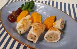 4 Rollè di pollo all'uva e purè di zucca