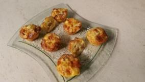 Muffin con frittata di patate e scamorza