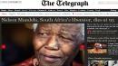 Mandela: le prime pagine mondiali