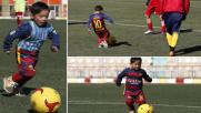 Il piccolo fan di Messi ora gioca con la Nazionale