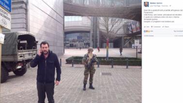 """Bruxelles, Salvini: """"Io sciacallo? Malati mentali"""""""