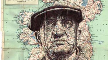 Quando il ritratto è geografico: l'artista che disegna su mappe