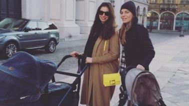 Francesca Chillemi a passeggio con Rania