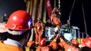 Cina, crolla miniera: 4 operai liberati dopo 36 giorni