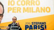 Milano, parte la corsa (in giallo) di Stefano Parisi