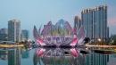 L'edificio a forma di loto <br>trae la sua energia dalla terra