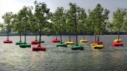 Nel porto di Rotterdam sorge la prima foresta galleggiante