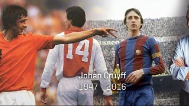 Il calcio piange Johan Cruyffla leggenda del calcio totale