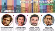 Milano, primarie centrosinistra: i quattro candidati