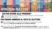 Primarie del centrosinistra a Milano, istruzioni per l'uso