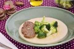 Crema di ceci con broccoletti