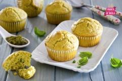 Muffin di farro al pesto e fagiolini