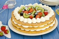 Cheesecake con pan di spagna