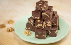 I Dolci di Alice: fudge al cioccolato e noci