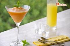 Sorbetto al melone e limoncello