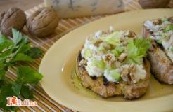 Bruschette gorgonzola e noci