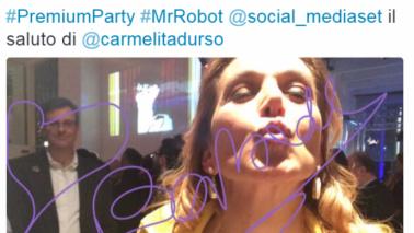 """""""Mr. Robot"""", Twitter Mirror dei vip per la Prima della serie tv"""