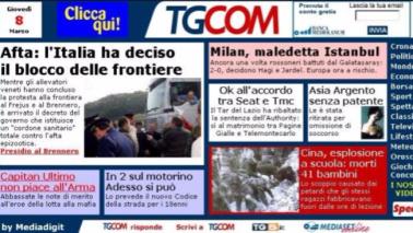 Tanti auguri Tgcom24: sono passati 15 anni da quella prima pagina