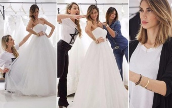 Melissa Satta, ultimi dettagli sull'abito bianco