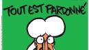 """Charlie Hebdo, ecco la copertina del numero post-strage: """"Tutto è perdonato"""""""