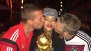 Rihanna, festa e baci con la Germania