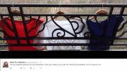 Francia, omaggio nazionale: la bandiera dilaga sul web