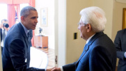 """Mattarella a Obama: """"Uniti contro i nemici della pace"""""""