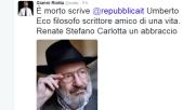 Twitter ricorda Umberto Eco: Da Saviano a De Bortoli, Riotta e...