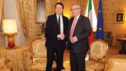 """Tra Juncker e Renzi """"identità di vedute"""": """"Stop austerity"""""""