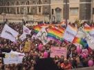"""Unioni civili, movimenti """"lgbt"""" manifestano a Roma"""