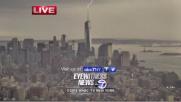 NY, fulmine sulla Freedom Tower in diretta Tv