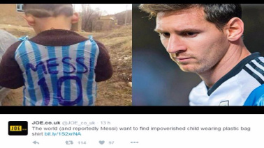 Iraq, bimbo commuove il web: tutti in cerca del fan di Messi