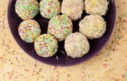 Tartufini colorati al cioccolato bianco