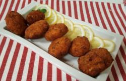 Polpette di pollo con pecorino, limone e menta