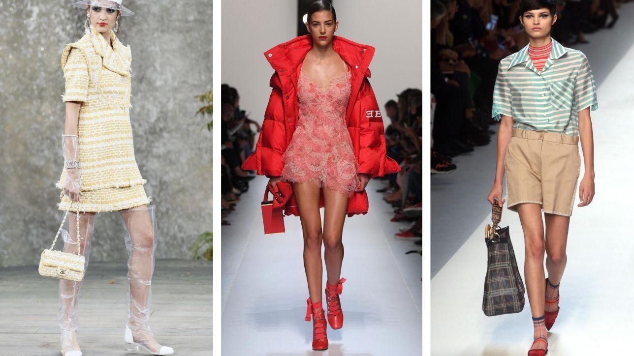 Moda: i mini abiti e i look con le gambe in primo piano