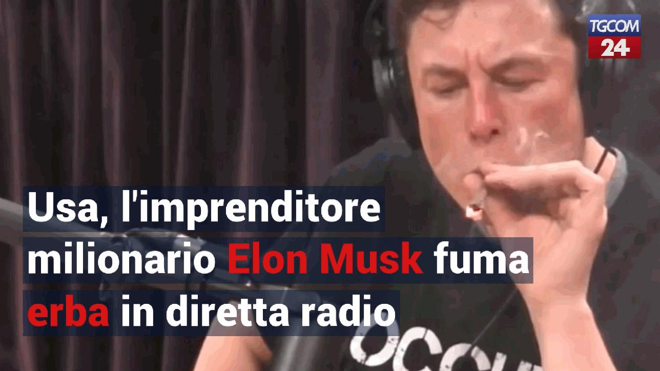 Usa, l'imprenditore milionario Elon Musk fuma erba in diretta radio