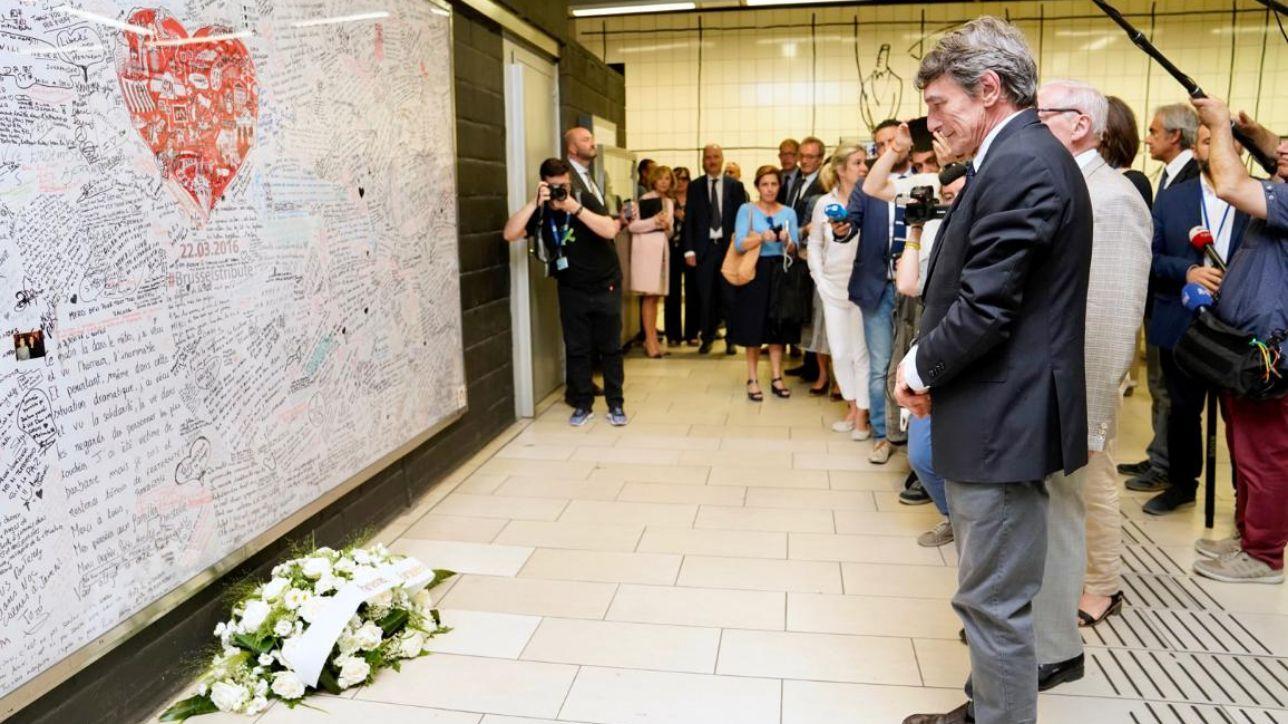 Bruxelles, Sassoli rende omaggio alle vittime del terrorismo